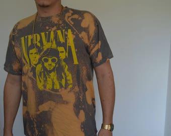 Vintage Nirvana Bleached T-shirt