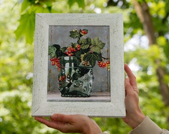 3d effect picture Decoupage bestseller gift vase picture home decoration wall art  3D rain drops No glass effect painting home gift Mother's