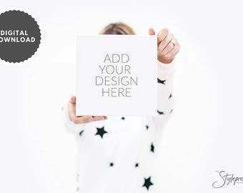 Styled Stock Photography | Styled Product Image | Small Canvas Stock Image | Feminine Styling | Product Photography | Model & Canvas Mockup
