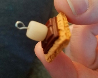 S'mores Polymer Clay Charm