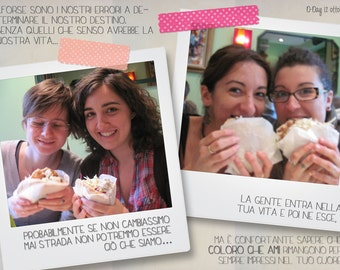 Postcard Friendship Polaroid bridesmaids