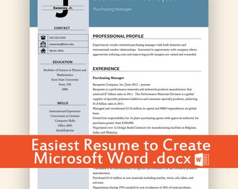 resume builder etsy - Word Templates Resume