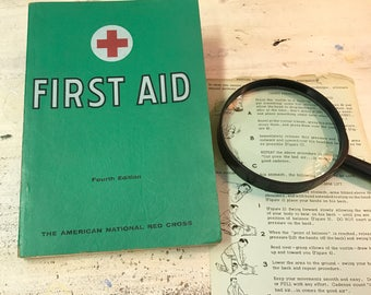 Vintage 1957 Red Cross First Aid | First Aid Textbook | 249 Illustrations