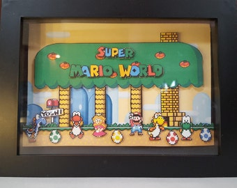 Mario, Super Mario World, Papercraft Shadowbox Yoshi's House