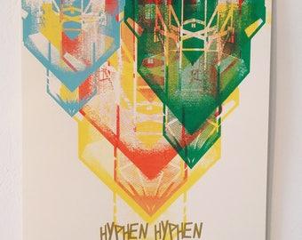 Serigraphy - Hyphen Hyphen concert poster