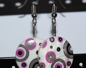 Mod drop earrings