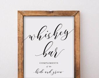 Whiskey Bar Sign Printable Download