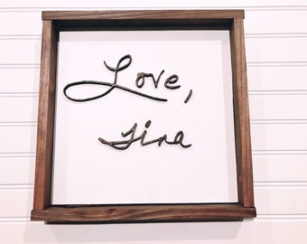 Custom Handwriting Sign (<10 Letters), Wood Handwriting, Custom Handwritten Sign, Personalized Handwriting, Personalized Gift, Office Decor