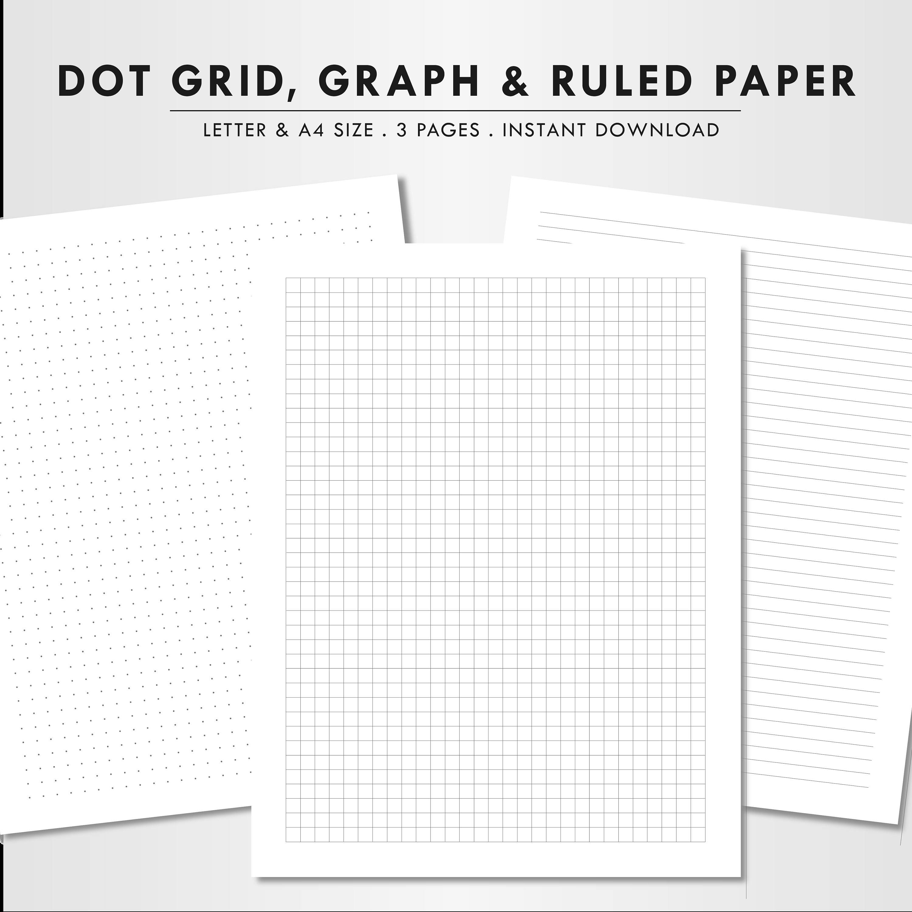 Blank paper letter size A4 dot grid graph paper ruled