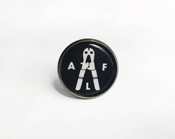 ALF, Animal liberation front 1 inch lapel pin button