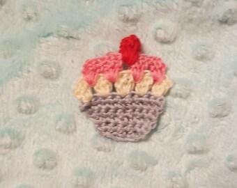 Cupcake Hair Clip cupcake hair barrette crochet cupcake crochet cupcake hair clip free shipping crochet clip crochet barrette crochet gift