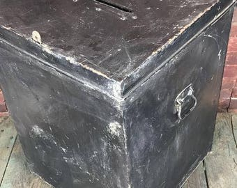 Beautiful Large Authentic Pennyslvania Ballot Box Made From Thick Guage Sheet Metal -- Convo for shipping quote