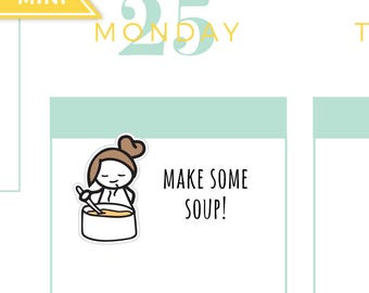 Cooking soup chef planner stickers