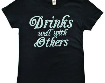 Women's Drinks Well With Others Tee - Black