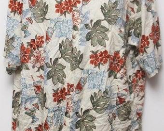 "90's Vintage ""CAMPIA MODA"" Short-Sleeve Hawaiian Shirt Sz: LARGE (Men's Exclusive"