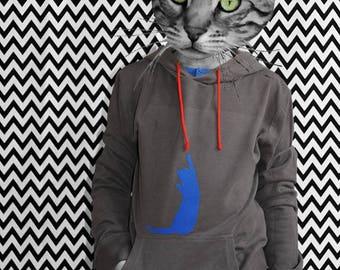 Kids Hoody cat organic fair bio