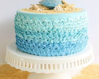 Ombre Ruffle Cake- Fake cake, prop cake, party decor