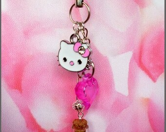 Key ring or other accessory - kawaii hello K.