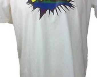 Men's White Gay Pride T Shirt