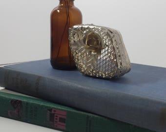 Vintage delicate silver keepsake box