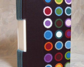 Journal Sketchbook Diary fabric covered Buttonhole Binding