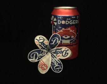 LA Dodgers fabric plumeria flower