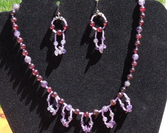 Amethyst necklace with Loops