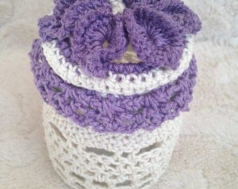 Purple lace pot