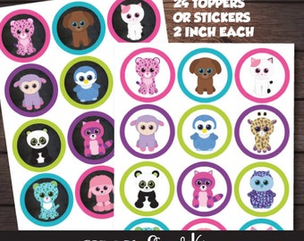 Beanie Boo Toppers, Instant download