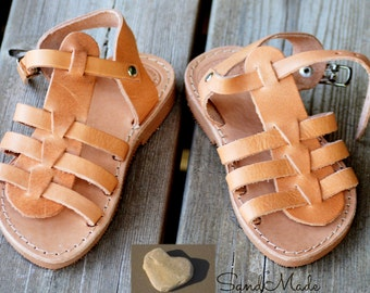 Greek leather sandals, Kids summer sandals,handmade leather sandals,kids summer shoes, JUNIOR MELITTA