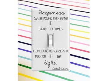Harry Potter Decal || Dumbledore Quote Decal || HP Decal || Dumbledore Quote Sticker || Harry Potter Light Switch Plate Decal Sticker
