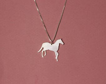 Sterling silver horse necklace horse charm necklace horse locket necklace horse pendant necklace girls horse necklace