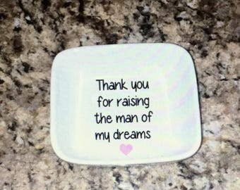 Mother in law gift. Mother in law ring dish. Mother of the groom gift. Mother of the groom ring dish. In laws gift. Mother of the groom.