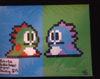 Bubble Bobble Acrylic Painting - Original
