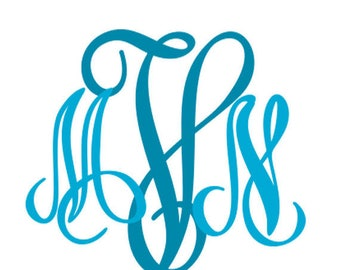 Interlocking Monogram Font SVG , monogram font for cricut Studio3 DXF Eps Cuttable Vector Graphic Files. Cutfiles for Cricut DS, Silhouette