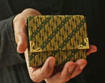 Green Army Batik Wallet