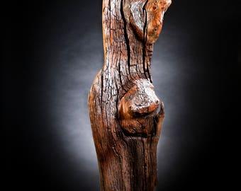 Sarah wood sculpture.