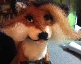 Needle Felted Foxy Mama, Made to order