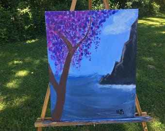 Blooming Tree and Seascape canvas