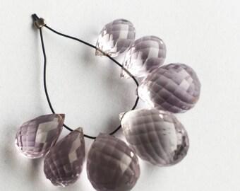 7 A grade pink amethyst plump briolettes