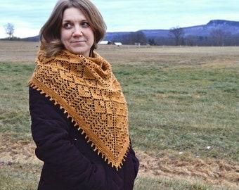 Golden Valley Shawl Knitting Pattern PDF