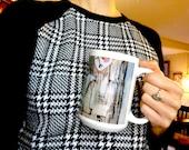 Coffee Mug, Original Art on Mug, 15oz Coffee Cup, Unique Gifts, Drink, Beverage, Home Decor, Modern Art, Coffee Lover Gift Idea, Painter