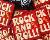 Rock and/or Roll- Iron on Patch