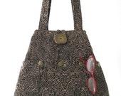 Brown shoulder bag, womens handmade handbag, fabric handbag, womens purse, brown tote bag , brown hobo bag, shoulder handbag