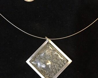 Bubble Glass Pendant Necklace