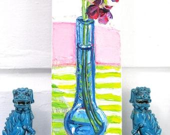 December Orchids original mixed media acrylic still life painting