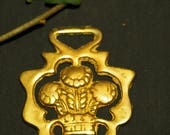 RESERVED FOR SUSAN Vintage or Antique Prince of Wales Crest - Plume of Feathers Horse Brass
