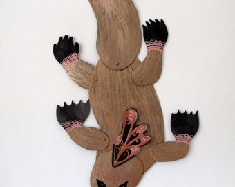 Platypus Pink Detail Articulated Decoration  / Hinged Beasts Series