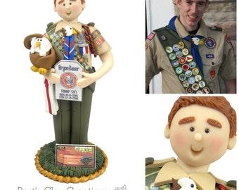 Eagle Scout 3D Cake Topper DEPOSIT - Custom Created - Please read item description