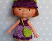 Strawberry Shortcake 4 Pc Outfit Purple Bellflower